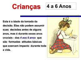 Perfil da criança de 4 a 6 anos
