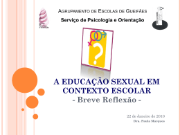 o que é a educação sexual?