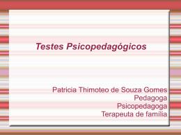 Testes Psicopedagógicos