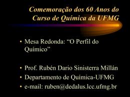 Comemoração dos 60 Anos do Curso de Química da UFMG