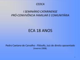 ECA 18 ANOS Power point Pedro Caetano de Carvalho