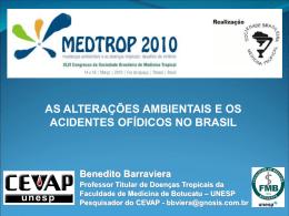 2-As alterações ambientais e os acidentes ofídicos no Brasil.