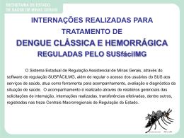 Internações para tratamento de dengue