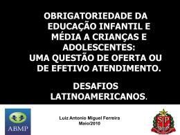 obrigatoriedade da educação