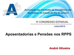 Aposentadorias e Pensões nos RPPS – Andre oliveira
