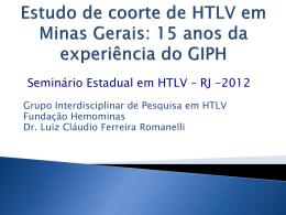 Estudo de coorte de HTLV em Minas Gerais: 15 anos da