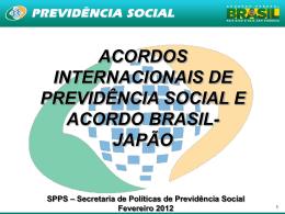 ACORDOS INTERNACIONAIS DE PREVIDÊNCIA SOCIAL E