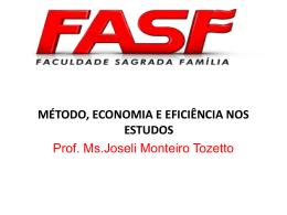 método, economia e eficiência nos estudos