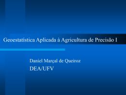 Geoestatística Aplicada à Agricultura de Precisão