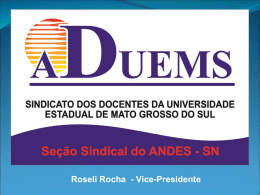CARREIRA DOCENTE - ADUEMS - Andes-SN