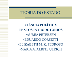 TEORIA DO ESTADO - Capital Social Sul