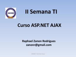 Ajax com ASP.NET