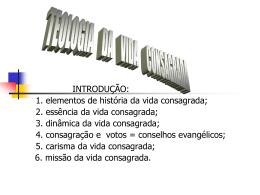 TEOLOGIA DA VIDA CONSAGRADDA
