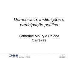 Democracia, instituições e participação política