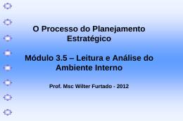 O Processo do PE - Análise Ambiente Interno - 2012