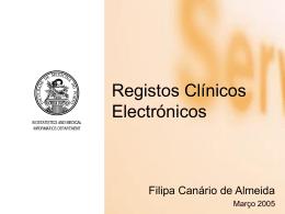 Registos Clínicos Electrónicos