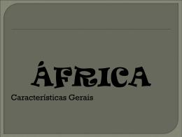 África – características gerais