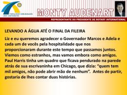 Discurso 4 - Monty Audenart (Ex-Vice-Presidente de