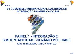 painel 1 - integração e sustentabilidade