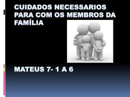 MATEUS 7:1 a 6