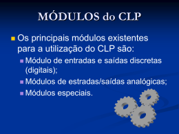 CLP – Módulos do CLP.
