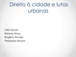 Direito à cidade e lutas urbanas