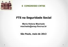 """Apresentação """"FTS na Seguridade Social"""""""
