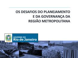 """Vicente Loureiro - """"Região Metropolitana: ações para o"""