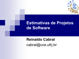 Parte II - Estimativas de Projetos de Software