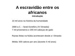 A escravidão entre os africanos