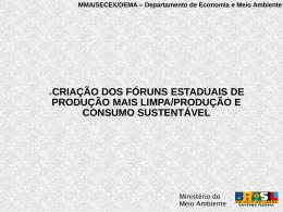 MMA/SECEX/DEMA – Departamento de Economia