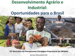 Mais Alimentos Internacional - Ministério do Desenvolvimento Agrário