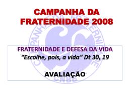 Avaliação da CF 2008 - Campanhas