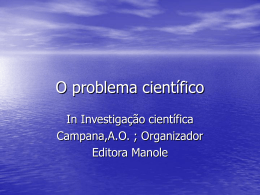 O problema científico