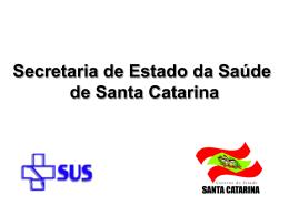 Apresentação do Seminário - Secretaria Estadual de Saúde