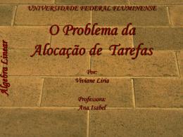 Álgebra Linear - Universidade Federal Fluminense