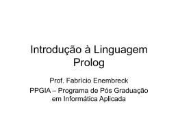 Introdução à Programação Lógica-Aula5