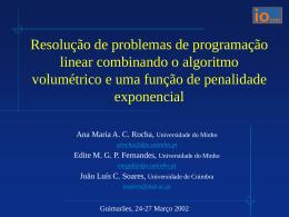 Resolução de problemas de programação linear combinando