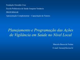 Planejamento e Programação das Ações de Vigilância em Saúde