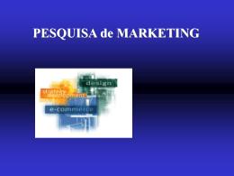 Pesquisa e Análise de Marketing