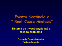 "Evento Sentinela e "" Root Cause Analysis"""