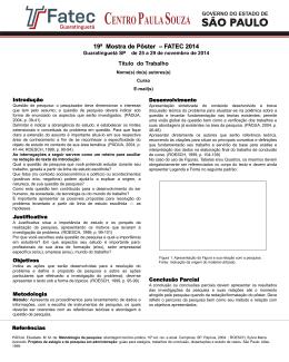 modelo_poster_2014 - FATEC Guaratinguetá