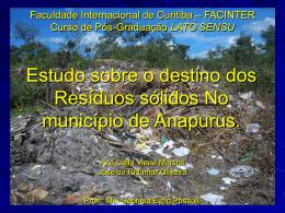 Faculdade Internacional de Curitiba – FACINTER Curso de
