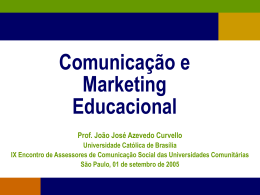 Comunicação e Marketing Educacional