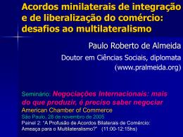 Minilateralismo - Paulo Roberto de Almeida