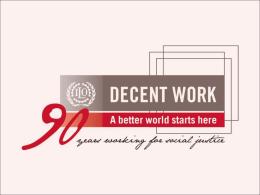 O Pacto Mundial para o Emprego