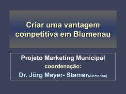 Criando Vantagens Competitivas em Blumenau