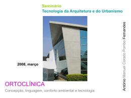 Seminário Tecnologia da Arquitetura e do Urbanismo