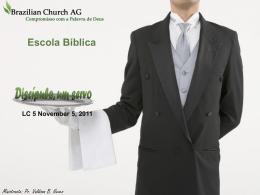 Escola Bíblica Discípulo, um servo