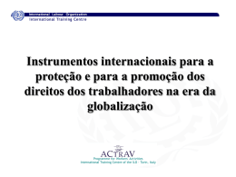 International Instruments for Global Trade Union